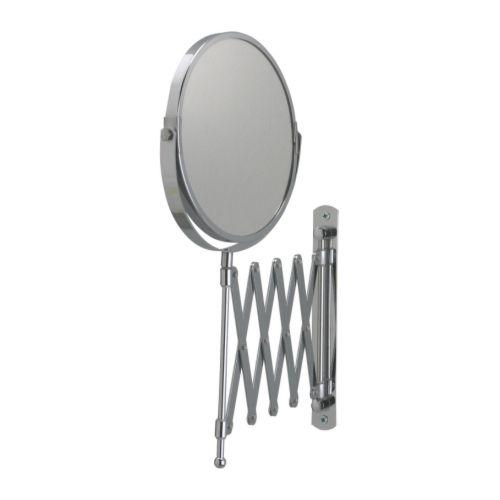 【IKEA Original】FRACK -フレック- 伸縮 ウォールミラー ステンレススチール 片面/拡大鏡