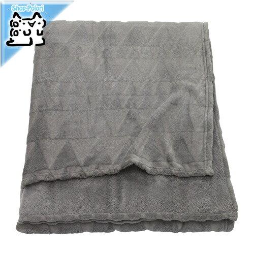 【IKEA Original】HARKAL -ハルコール- 毛布 グレー シングル〜セミダブル用 150x200 cm