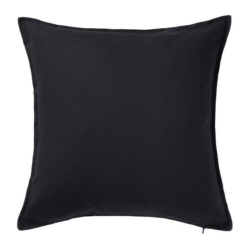 【IKEA Original】GURLI -グルリ- クッションカバー ブラック 50x50 cm