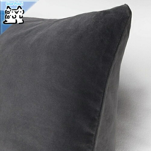 【IKEA Original】SANELA -サネーラ- クッションカバー ダークグレー 50x50 cm
