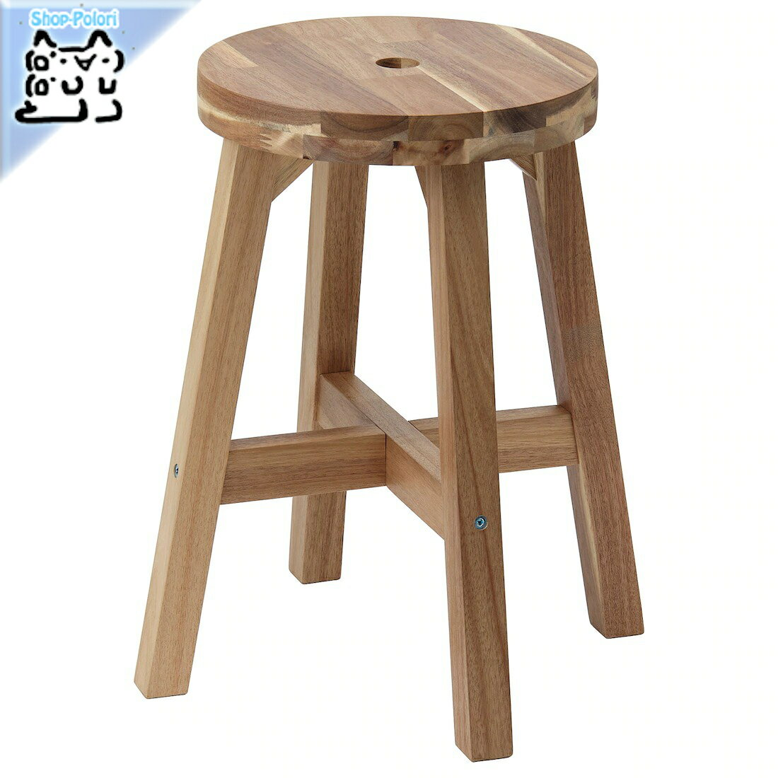 【IKEA Original】SKOGSTA -スコグスタ- イス スツール アカシア材 45 cm
