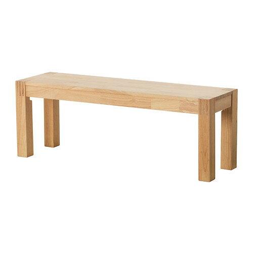 【IKEA Original】NORDBY -ノールドビー- ウッドベンチ ゴムノキ無垢材 125cm
