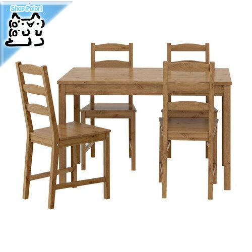【IKEA Original】JOKKMOKK -ヨックモック- テーブル&チェア4脚 アンティークステイン 4人用 セット