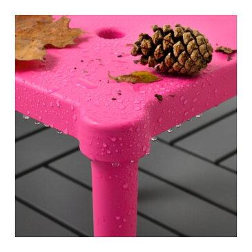 【IKEA Original】UTTER 子供用スツール 室内/屋外用 ピンク 28x28 cm