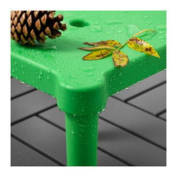 【IKEA Original】UTTER 子供用スツール 室内/屋外用 グリーン 28x28 cm