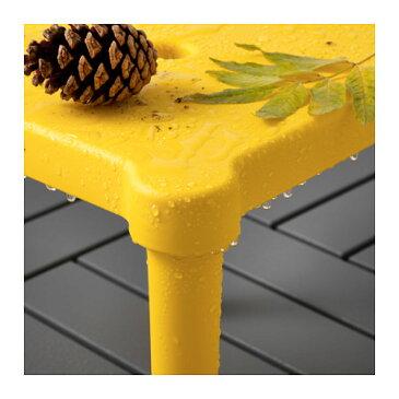 【IKEA Original】UTTER 子供用スツール 室内/屋外用 イエロー 28x28 cm