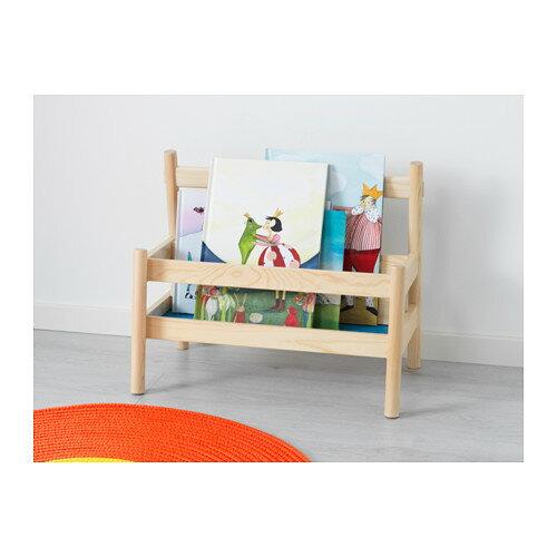 【IKEA Original】FLISAT -フリサット- ブックディスプレイ 新聞ラック ブックラック パイン無垢材 49 cm×28 cm