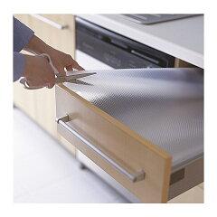 音を抑え、引き出しや棚を傷から守ります【IKEA Original】VARIERA 引き出しマット 透明 150*50cm