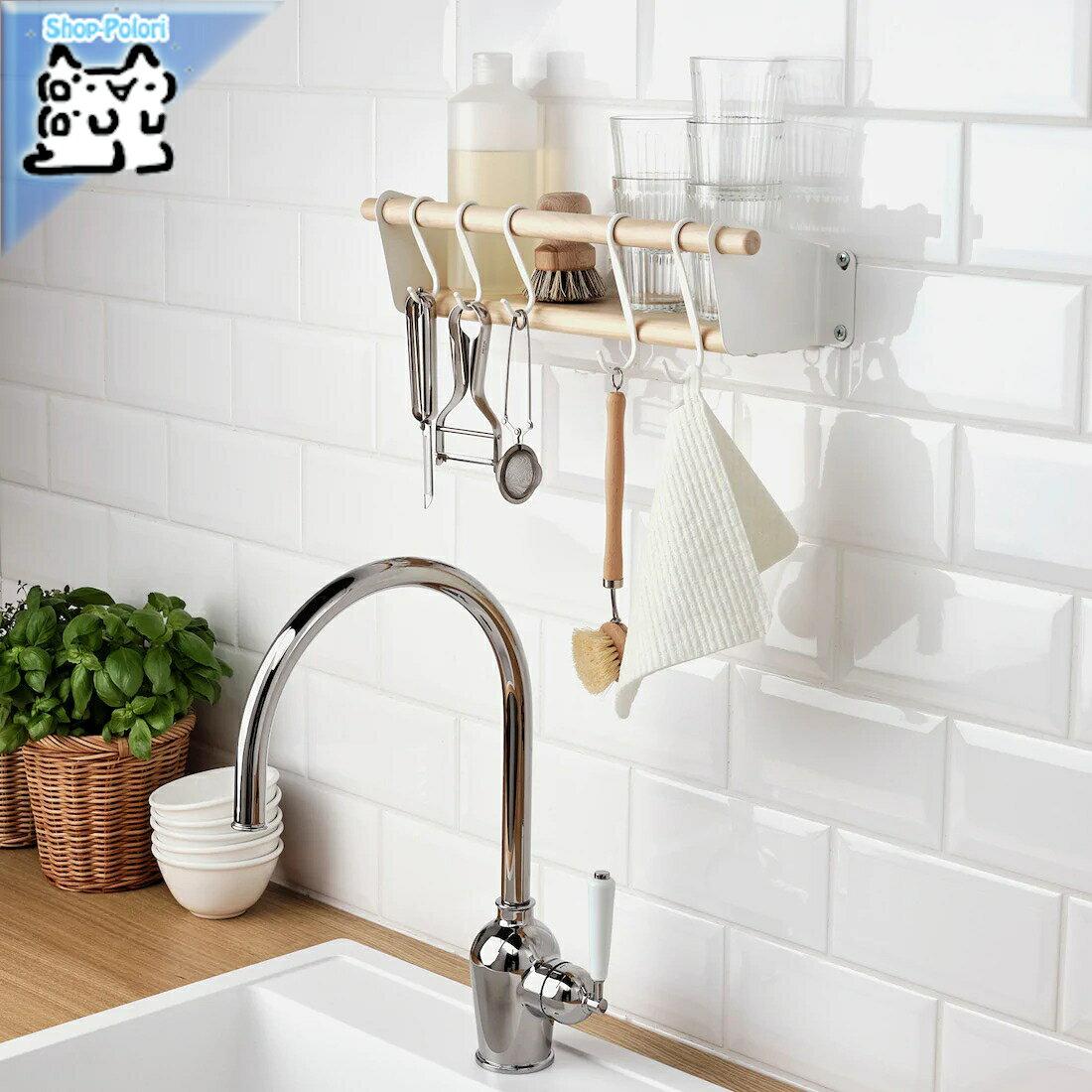 【IKEA Original】NEREBY -ネレビ- ウォールシェルフ バーチ 40x10 cm