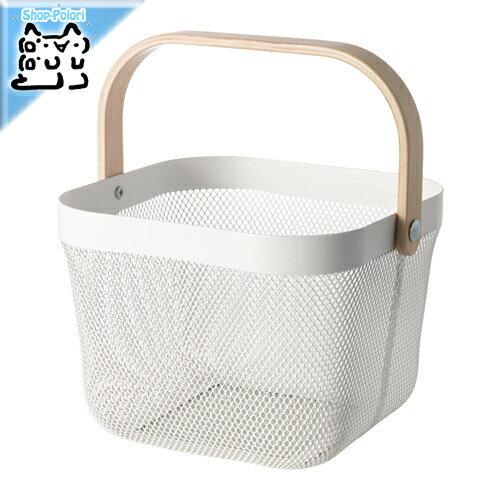 【IKEA Original】RISATORP -リーサトルプ- バスケット ホワイト 25x26x18 cm