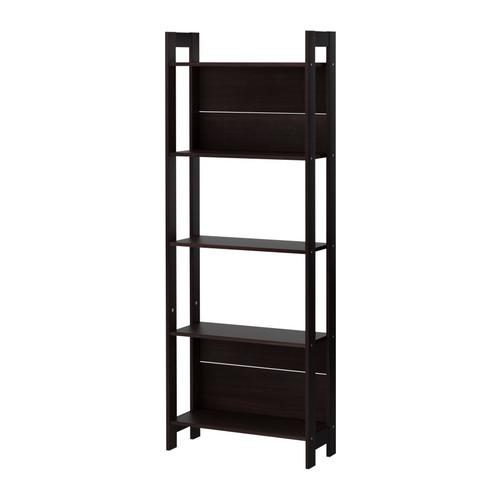 【IKEA Original】LAIVA -ライヴァ- 書棚 ブラックブラウン 62x165 cm