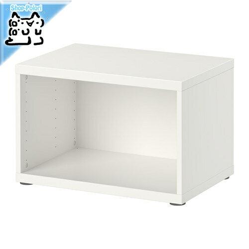 【IKEA Original】BESTA -ベストー- シェルフ テレビ台 フレーム ホワイト 60x40x38 cm
