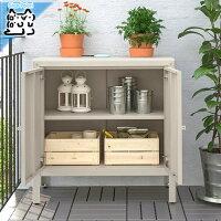 【IKEAOriginal】KOLBJORN収納棚キャビネット室内/屋外用ベージュ80x35x81cm