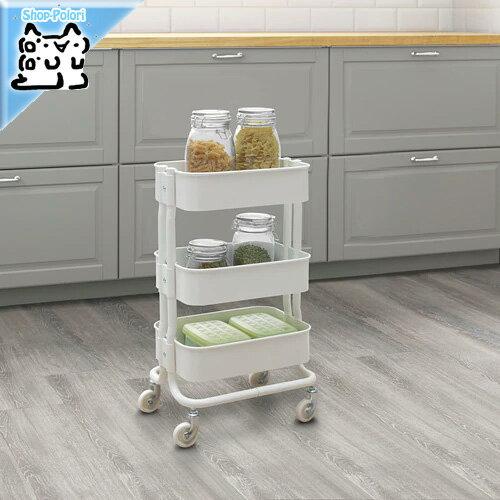 【IKEA Original】ikea ワゴン シェルフ RASHULT -ロースフルト- キッチンワゴン ホワイト 38x28x65 cm