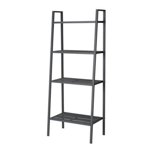 【IKEA Original】LERBERG -レールベリ- シェルフユニット ダークグレー 60x148 cm