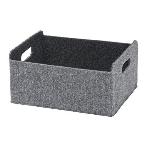 【IKEA Original】ikea ボックス おもちゃ 収納 BESTA -ベストー- フェルト地 ボックス グレー25x31x15 cm