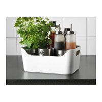 【IKEAOriginal】VARIERAボックスホワイト24x17cm収納ボックス