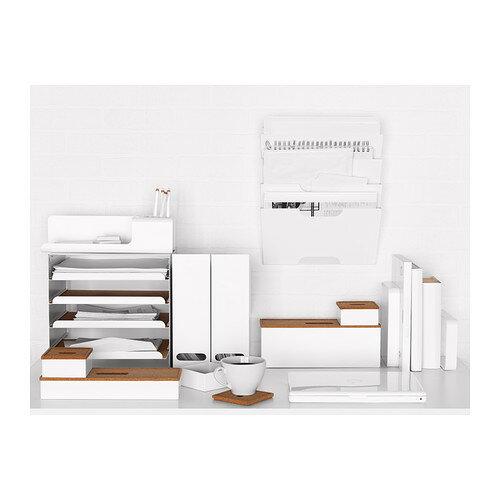 【IKEA Original】KVISSLE-クヴィッスレ- ウォール 新聞ラック ホワイト 30x46 cm