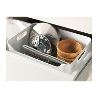 【IKEAOriginal】VARIERAボックスホワイト34x24cm収納ボックス