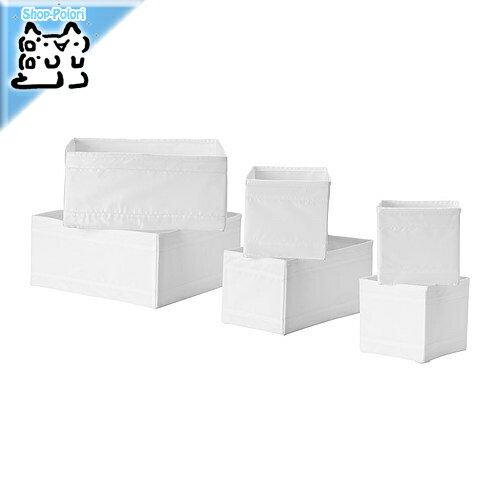 【IKEA Original】ikea 収納 SKUBB -スクッブ- ボックス6点セット ホワイト