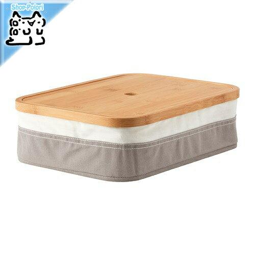 【IKEA Original】RABBLA -ラッブラ- 収納 ふた付きボックス 25x35x10 cmの写真