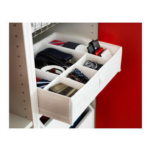 【IKEA Original】SKUBB -スクッブ- 仕切り付き 収納ケース ボックス ホワイト 44x34x11 cmの写真