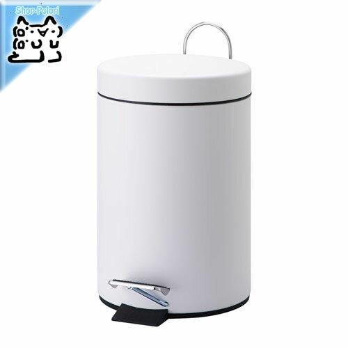 【IKEA Original】VORGOD -ヴォルゴド- ペダル式ゴミ箱 ホワイト コンパクト 3L ダストボックス