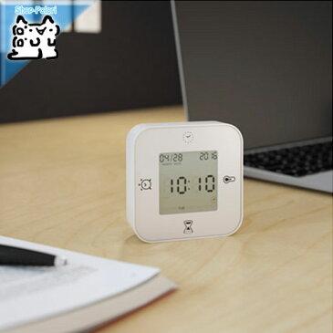 【IKEA Original】KLOCKIS 時計/温度計/アラーム/タイマー ホワイト 7x7cm