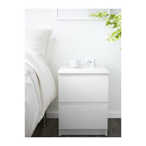 IKEAOriginal MALM-マルム-チェスト(引き出し×2)ベッドサイドテーブルホワイト40×55cm