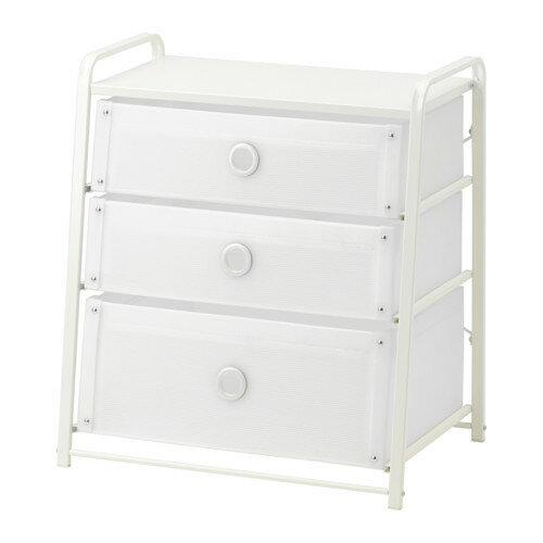 【IKEA Original】LOTE -ローテ- チェスト(引き出し×3) ホワイト 55x62 cm