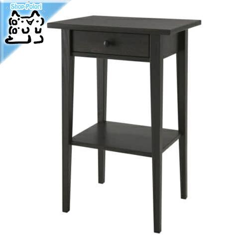 【IKEA Original】HEMNES -ヘムネス- ベッドサイドテーブル ブラックブラウン 46x35 cm