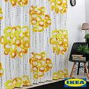 イケア カーテン「ストックホルム Stockholm」IKEA モノクロ 綿100% 北欧カーテン おしゃれカーテン ブルックリン 輸入カーテン IKEAカーテン ピッタリサイズ シンプル 目隠し イエロー 黄色