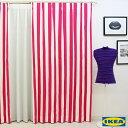 カーテン ストライプ 【IKEA】ソフィア ピンク 綿100% 北欧 おしゃれカーテン ボーダー 輸入 ピッタリサイズ シンプル 目隠し 試着室 オーダーメイド 女性 新生活 一人暮らし オシャレ かわいい