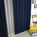 遮光カーテン【2枚セット】【1級遮光】【送料無料】ジーンズ ブルー 男性 メンズ デニム 風 完全遮光 形...