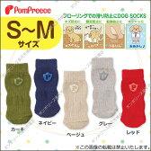 犬服 靴下【ポンポリース】ソックス ベーシックロゴ S〜M
