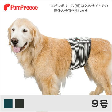 中型犬・大型犬用 マナーベルト カジュアルボーダー 9号 [ポンポリース]