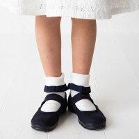 子供用フォーマルソックスグログランフリルソックスオフホワイト/グレ−/クロ全3色S/M/L全3サイズ丈夫な日本製POMPKINSポプキンズ