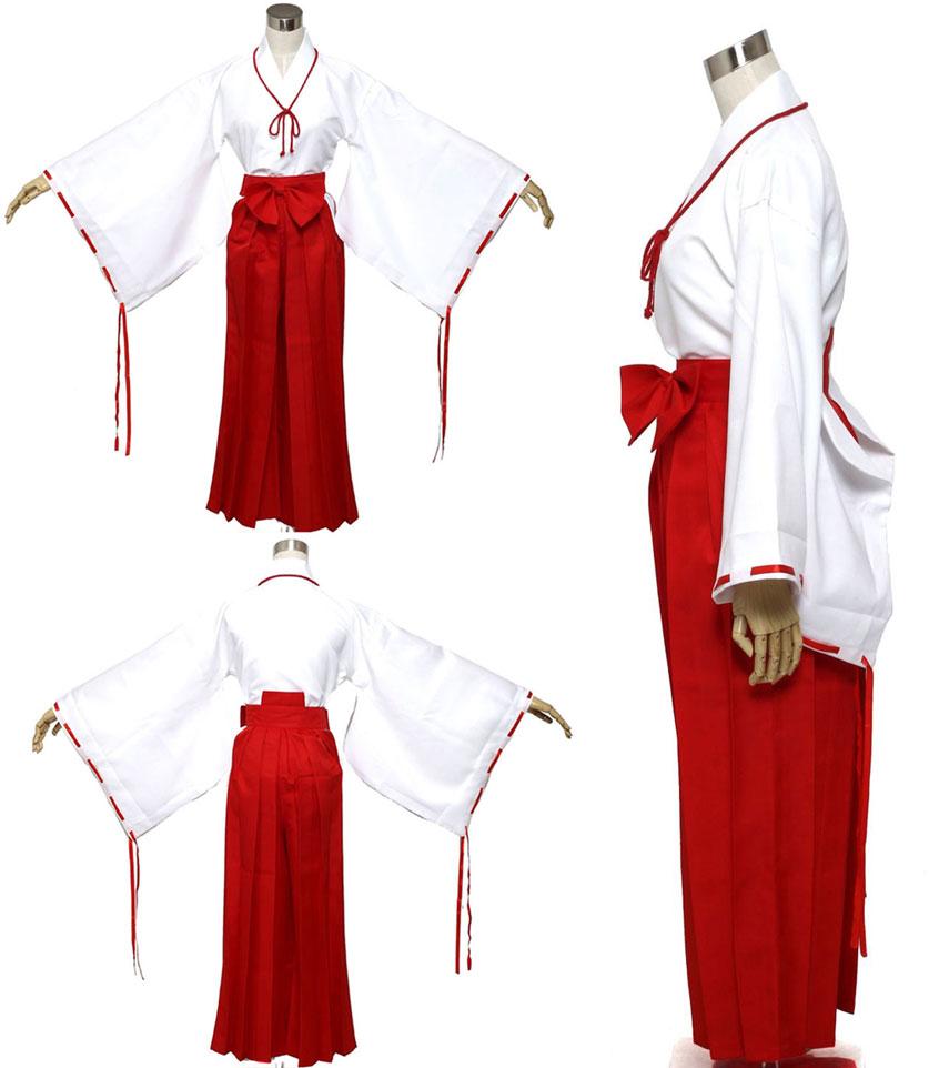 【楽天市場】巫女 みこさん コスプレ 高品質衣装 コスチューム 女性 S M L XL 4サイズ / 大きいサイズ ...