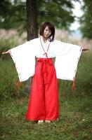 巫女みこさんコスプレ高品質衣装コスチューム女性SMLサイズ