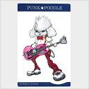オリジナル PUNK★POODLEステッカー(ベース) 中 プードル/雑貨/シール/ステッカー/ステーショナリー/グッズ/犬/ドッグ