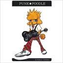 オリジナル PUNK★POODLEステッカー(ギター) 中 プードル/雑貨/シール/ステッカー/ステーショナリー/グッズ/犬/ドッグ