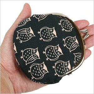 満福屋ふくろう がま口3.3寸フクロウ 雑貨 オーナー雑貨 がま口 小銭入れ 小物入れ 財布 リップケース 印鑑ケース プレゼント 和柄