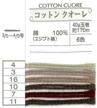 【中細】オリムパス コットンクオーレ 【コットン】【毛糸】