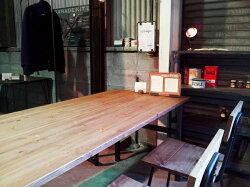 ダイニングテーブルH型アイアン鉄脚幅150×奥行75cm