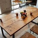 アイアン テーブル 無垢ダイニングテーブル 幅180×奥行80cm ア...