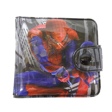 スパイダーマン SPIDER-MAN スクエアサイフ ブラック 11590 MARVEL 財布 さいふ ウォレット アメコミ 子ども キッズ 男の子 グッズ メール便配送子供会 クリスマス 景品【ss06】