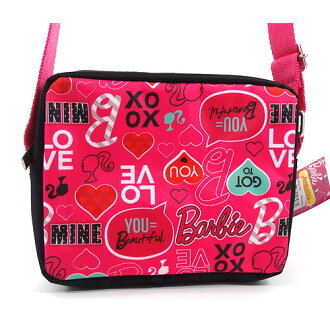 可巴比Barbie挎包粉紅LOVE 11599 Barbie baggubakkuposhietto包進口yuu分組不可能的禮物生日祝賀小孩包對應