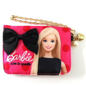 バービー Barbie サテンパスケース フューシャピンク 11656 Barbie パスケース 定期入れ ピンク 通勤 通学 さいふ 定期 財布 メール便配送 05P03Sep16子供会 クリスマス 景品