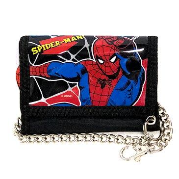 スパイダーマン チェーンウォレット 送料無料 メール便配送 SPIDER-MAN MARVEL 財布 さいふ ウォレット 男の子 小学生 男子 12902