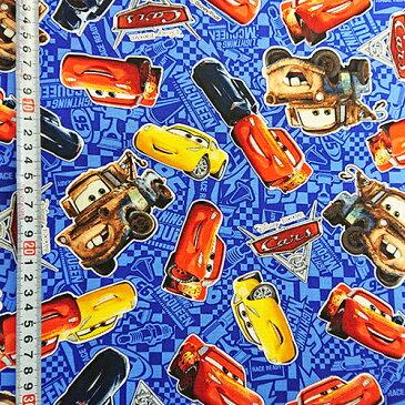 【50cm以上10cm単位】カーズ3 キャラクタープリント生地 オックス BL 13632 Pixar Disney 布 オックスフォード ブルー 青 グッズ 入園 入学 準備 手作り ハンドメイド 手芸 布地 生地 ファブリック テキスタイル KOKKA 巾着袋に最適 メール便配送可